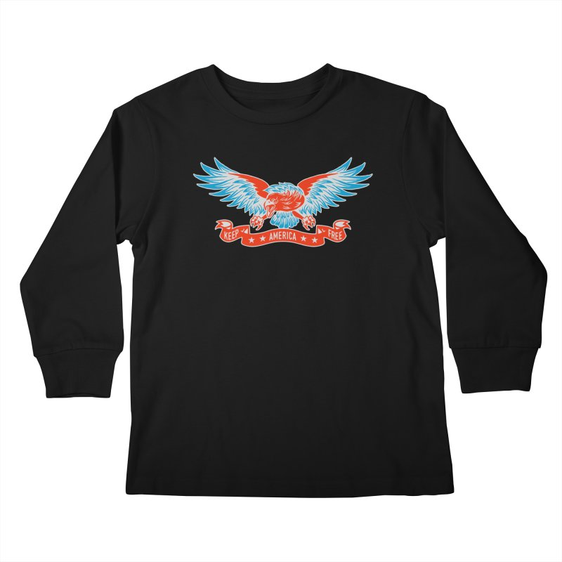 Keep America Free Kids Longsleeve T-Shirt by EngineHouse13's Artist Shop