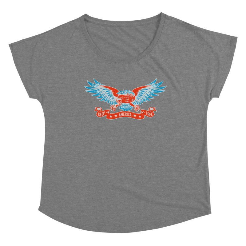 Keep America Free Women's Scoop Neck by EngineHouse13's Artist Shop