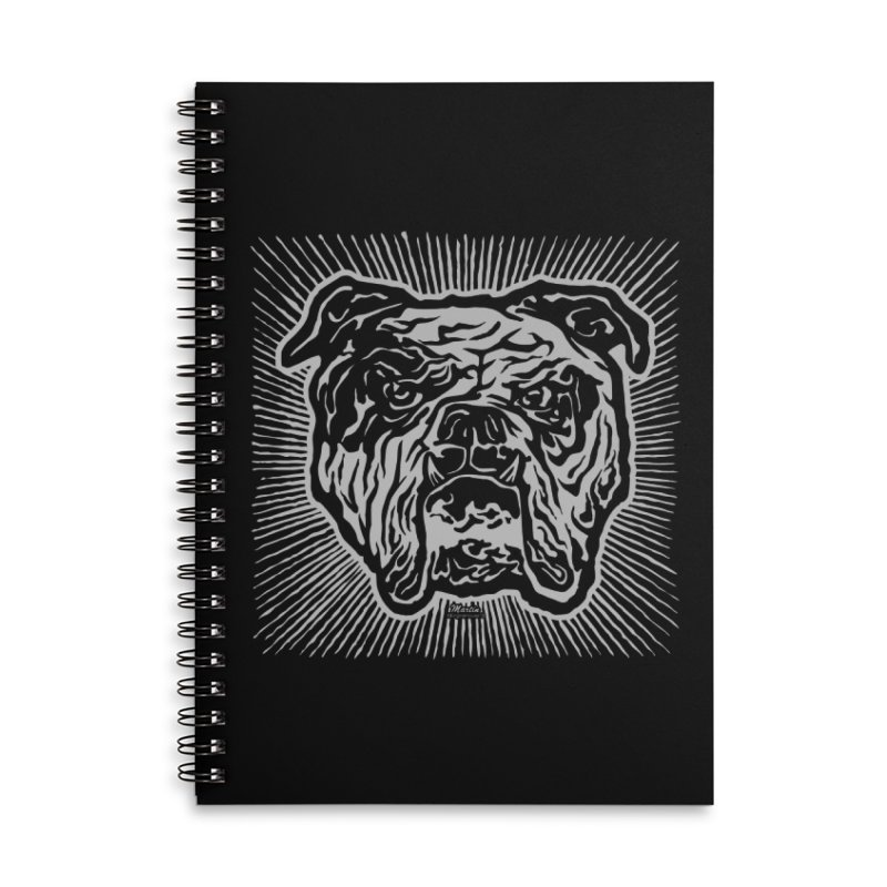 Bully Accessories Lined Spiral Notebook by EngineHouse13's Artist Shop
