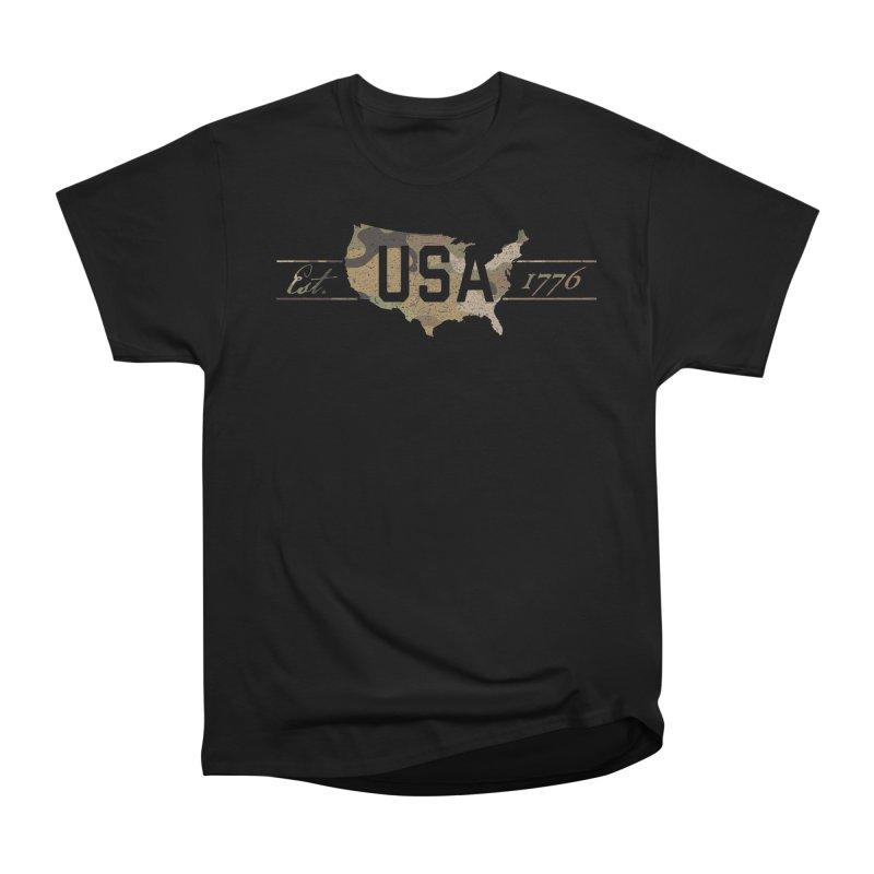 Est. 1776 Women's Heavyweight Unisex T-Shirt by EngineHouse13's Artist Shop