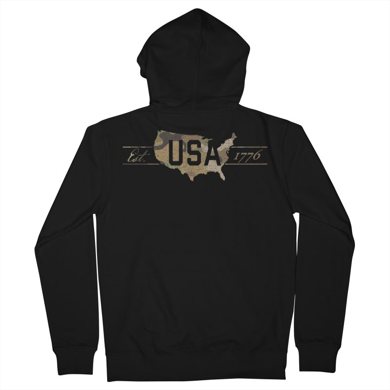 Est. 1776 Women's French Terry Zip-Up Hoody by EngineHouse13's Artist Shop