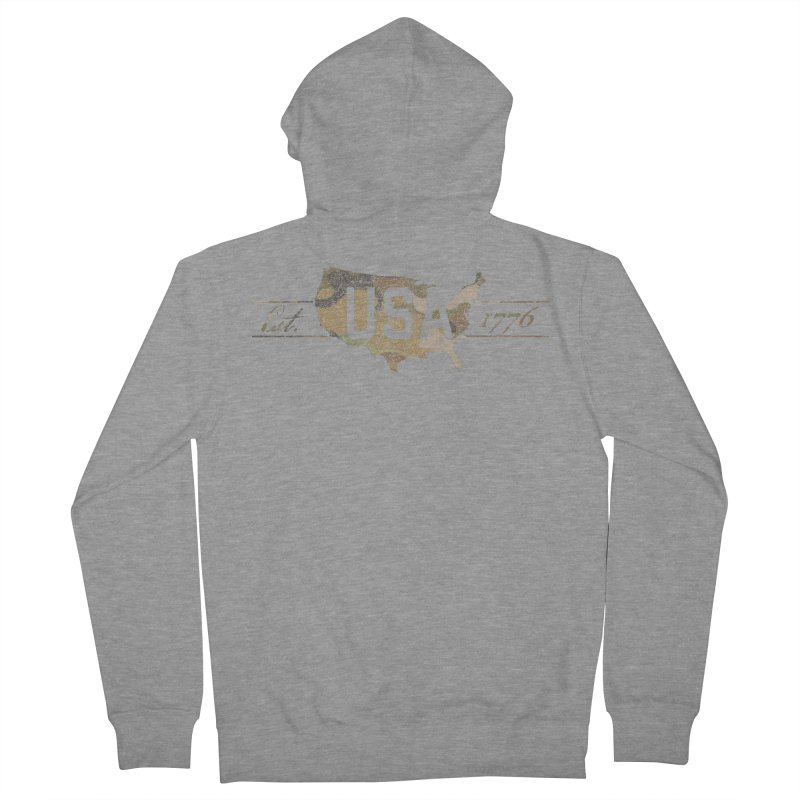 Est. 1776 Men's French Terry Zip-Up Hoody by EngineHouse13's Artist Shop
