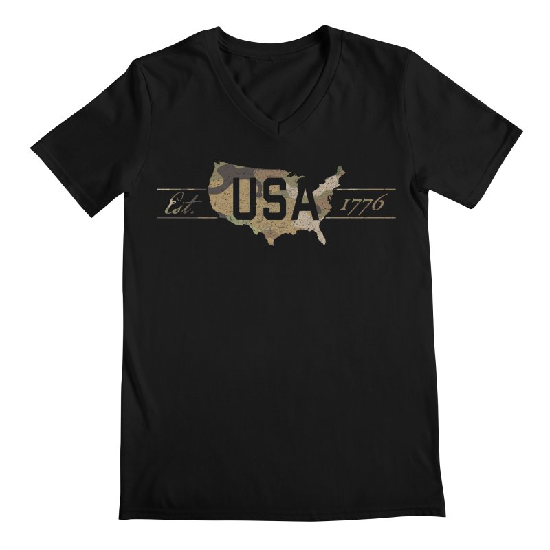 Est. 1776 Men's V-Neck by EngineHouse13's Artist Shop