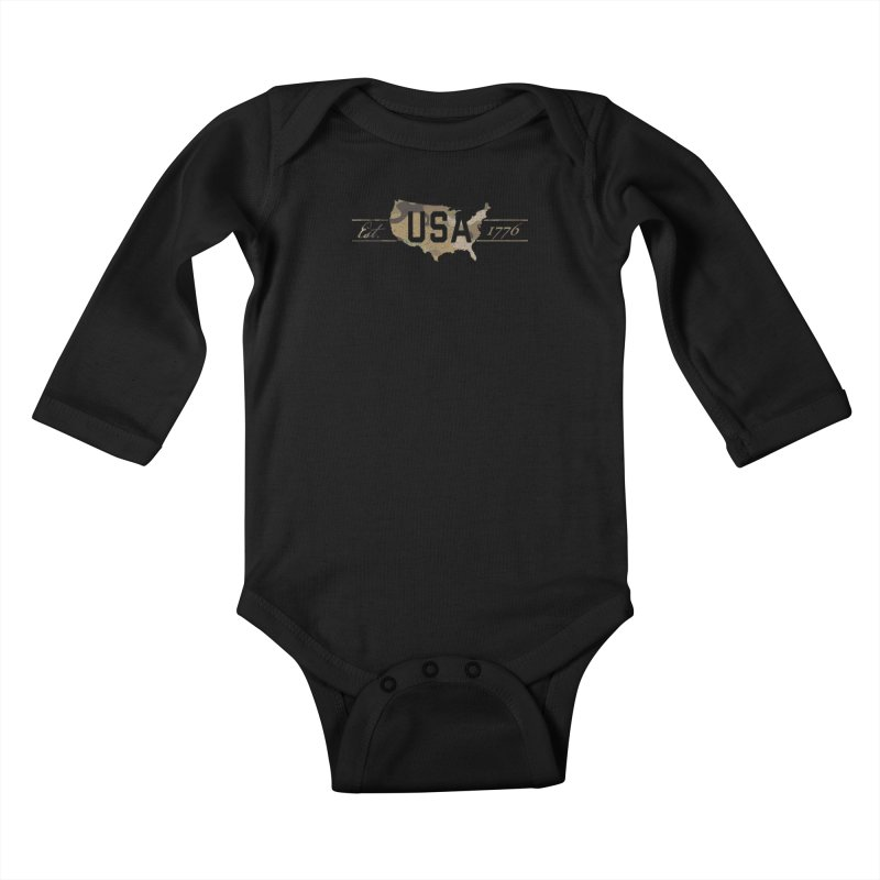 Est. 1776 Kids Baby Longsleeve Bodysuit by EngineHouse13's Artist Shop