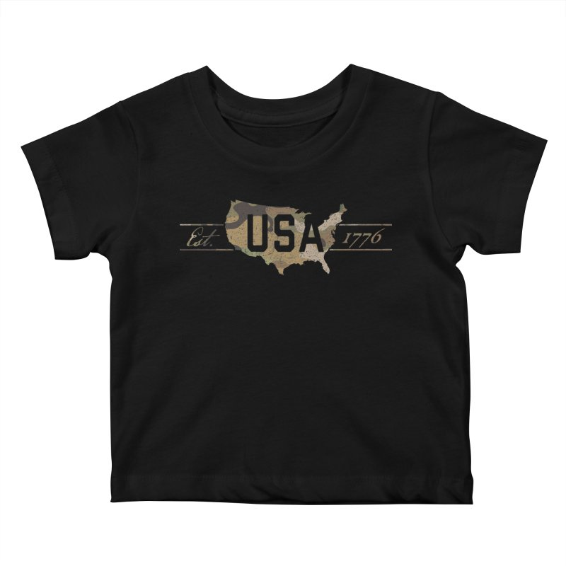 Est. 1776 Kids Baby T-Shirt by EngineHouse13's Artist Shop