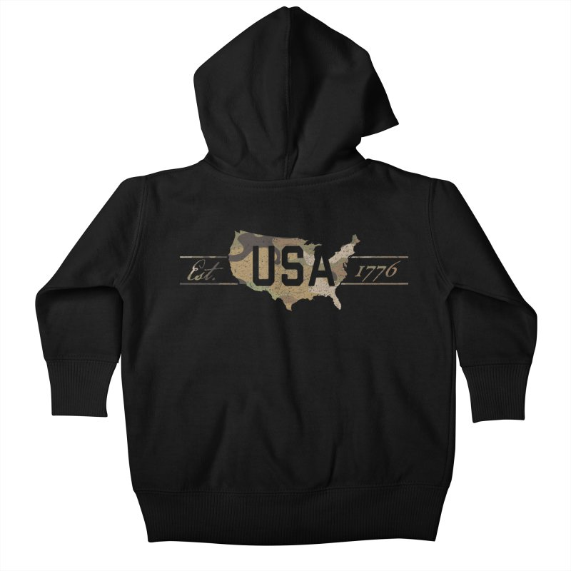 Est. 1776 Kids Baby Zip-Up Hoody by EngineHouse13's Artist Shop