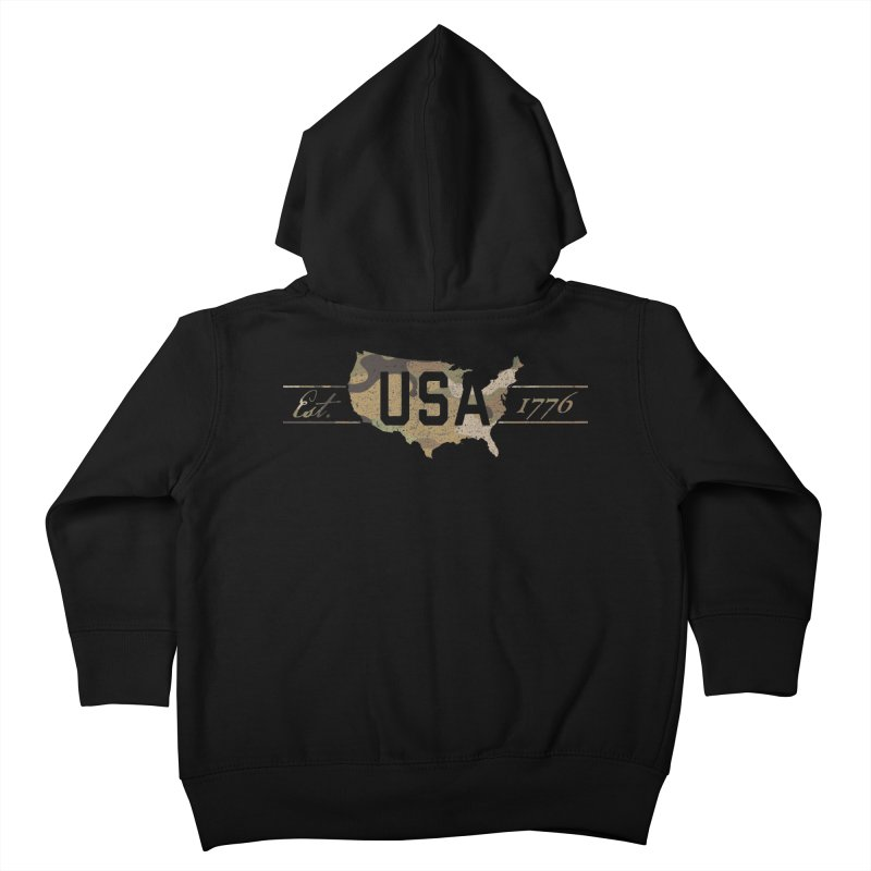 Est. 1776 Kids Toddler Zip-Up Hoody by EngineHouse13's Artist Shop