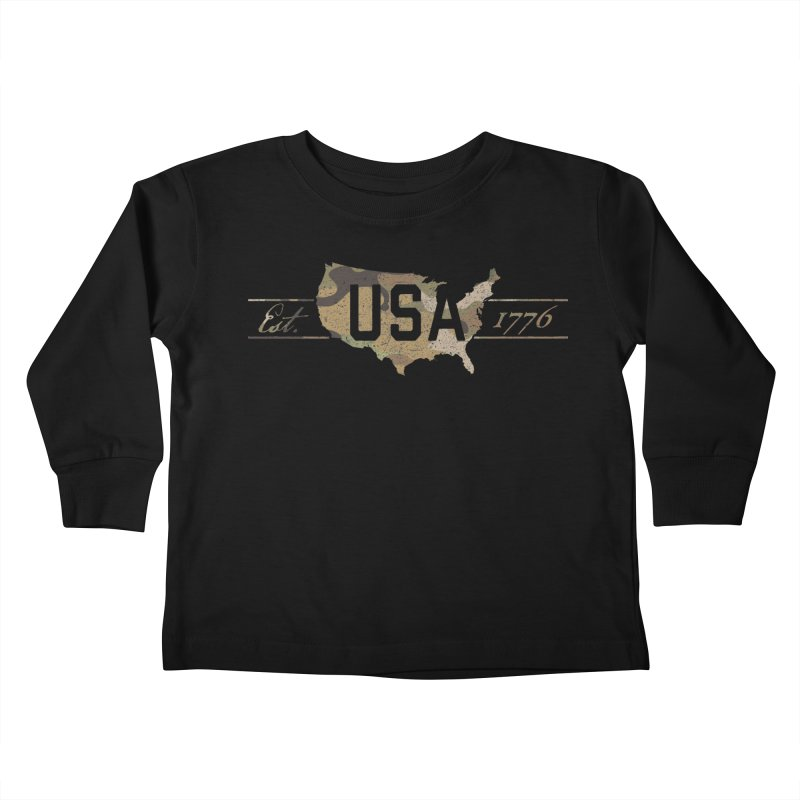 Est. 1776 Kids Toddler Longsleeve T-Shirt by EngineHouse13's Artist Shop