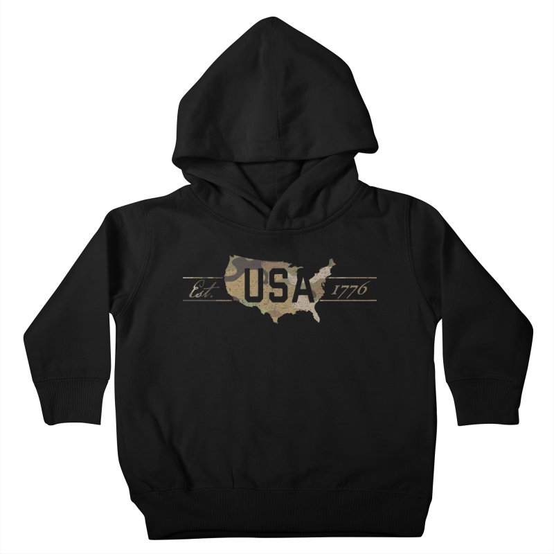 Est. 1776 Kids Toddler Pullover Hoody by EngineHouse13's Artist Shop