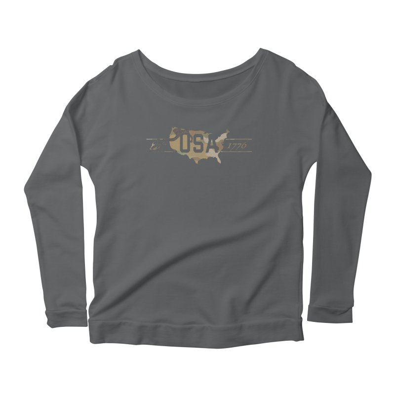 Est. 1776 Women's Scoop Neck Longsleeve T-Shirt by EngineHouse13's Artist Shop