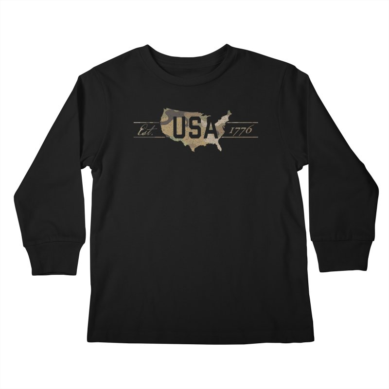 Est. 1776 Kids Longsleeve T-Shirt by EngineHouse13's Artist Shop