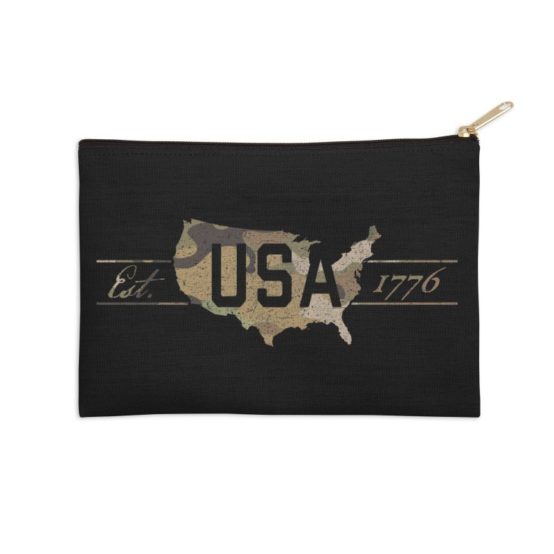 Est. 1776 Accessories Zip Pouch by EngineHouse13's Artist Shop