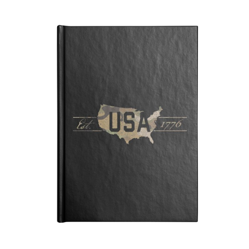Est. 1776 Accessories Lined Journal Notebook by EngineHouse13's Artist Shop