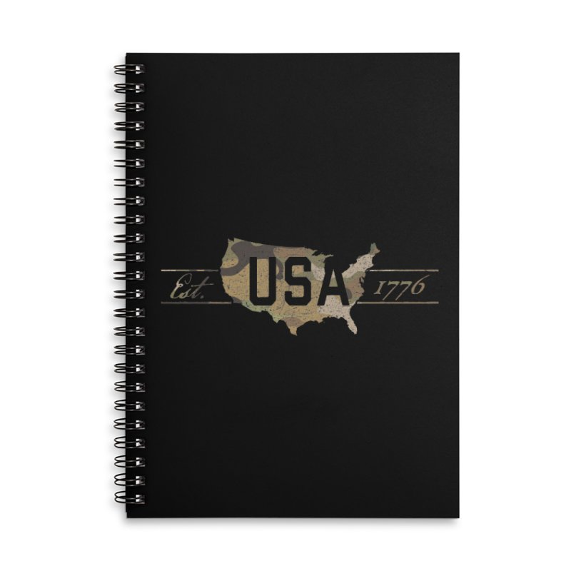 Est. 1776 Accessories Lined Spiral Notebook by EngineHouse13's Artist Shop