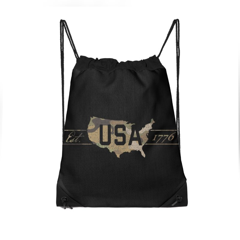 Est. 1776 Accessories Drawstring Bag Bag by EngineHouse13's Artist Shop