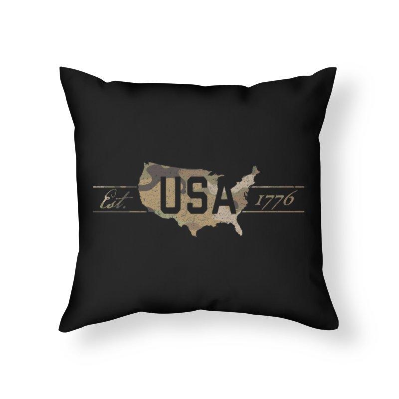 Est. 1776 Home Throw Pillow by EngineHouse13's Artist Shop