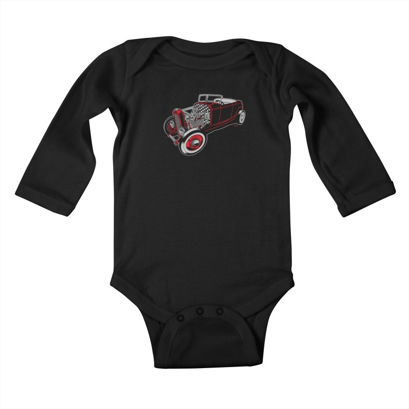 32 Kids Baby Longsleeve Bodysuit by EngineHouse13's Artist Shop