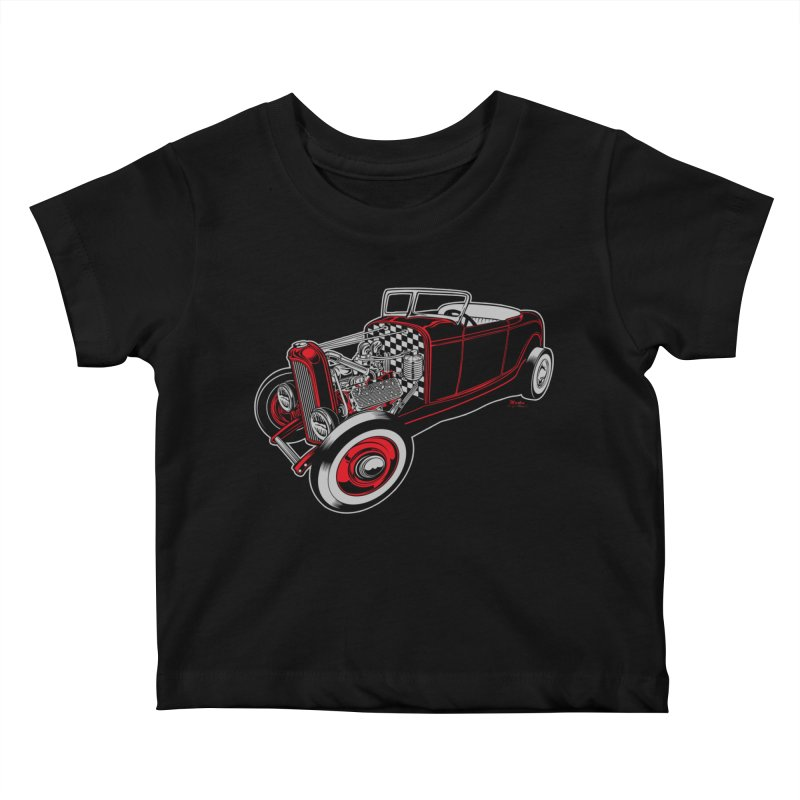 32 Kids Baby T-Shirt by EngineHouse13's Artist Shop