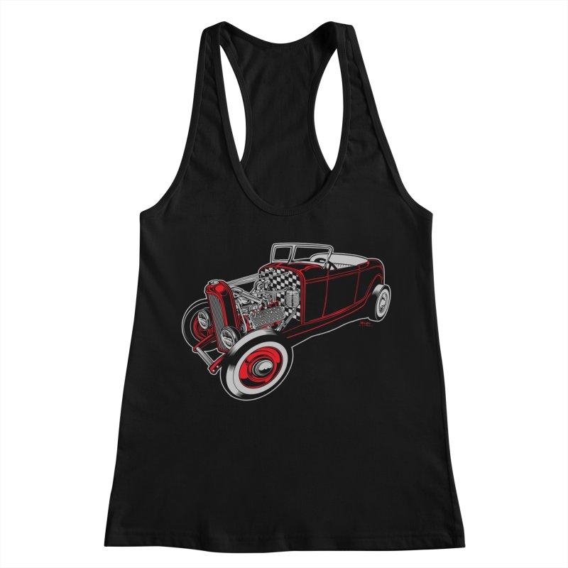 32 Women's Racerback Tank by EngineHouse13's Artist Shop