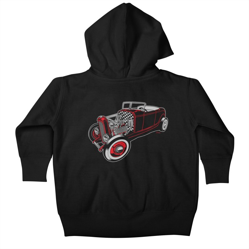 32 Kids Baby Zip-Up Hoody by EngineHouse13's Artist Shop