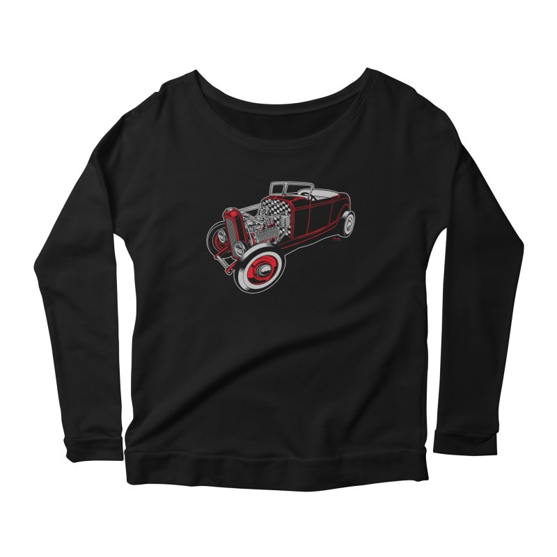 32 Women's Scoop Neck Longsleeve T-Shirt by EngineHouse13's Artist Shop