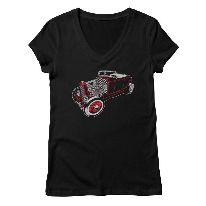 32 Women's Regular V-Neck by EngineHouse13's Artist Shop