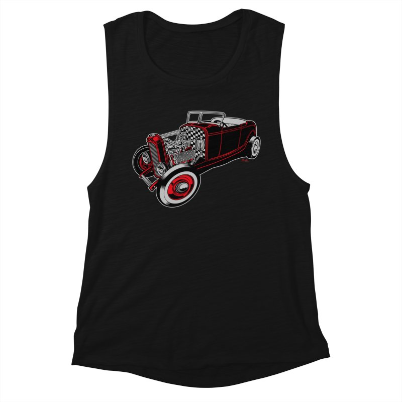 32 Women's Muscle Tank by EngineHouse13's Artist Shop