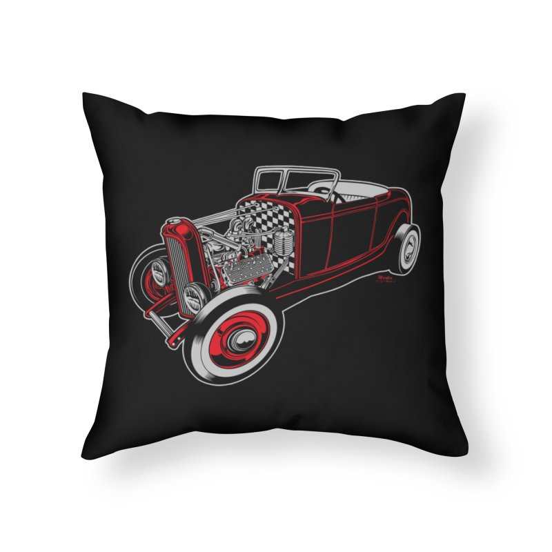 32 Home Throw Pillow by EngineHouse13's Artist Shop
