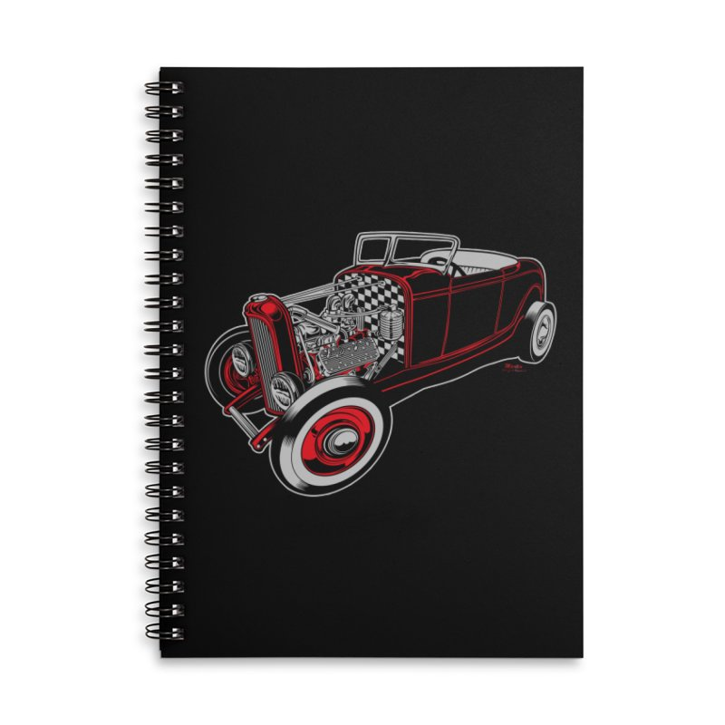 32 Accessories Lined Spiral Notebook by EngineHouse13's Artist Shop