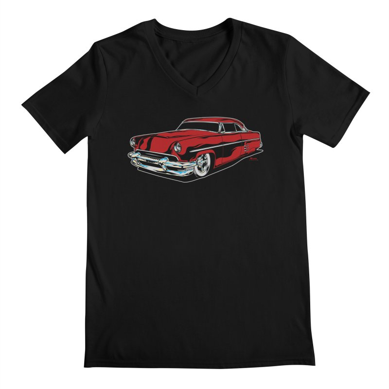 54 Custom Men's Regular V-Neck by EngineHouse13's Artist Shop