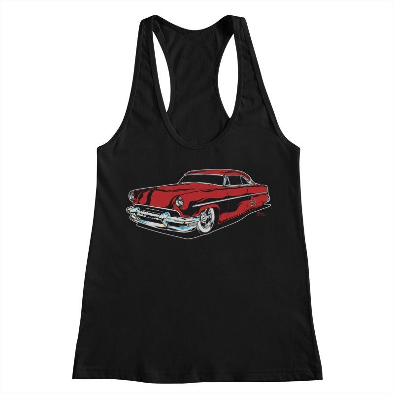 54 Custom Women's Racerback Tank by EngineHouse13's Artist Shop