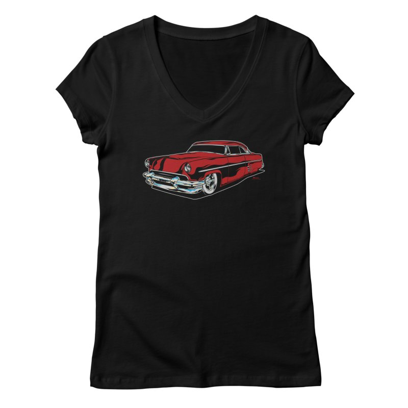 54 Custom Women's V-Neck by EngineHouse13's Artist Shop