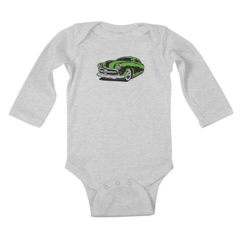 1950 Shoebox Kustom Kids Baby Longsleeve Bodysuit by EngineHouse13's Artist Shop