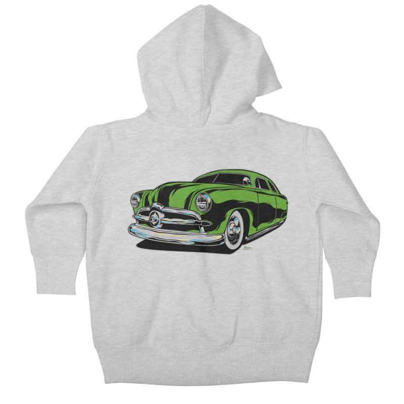 1950 Shoebox Kustom Kids Baby Zip-Up Hoody by EngineHouse13's Artist Shop