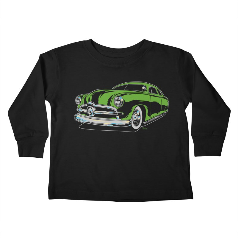 1950 Shoebox Kustom Kids Toddler Longsleeve T-Shirt by EngineHouse13's Artist Shop
