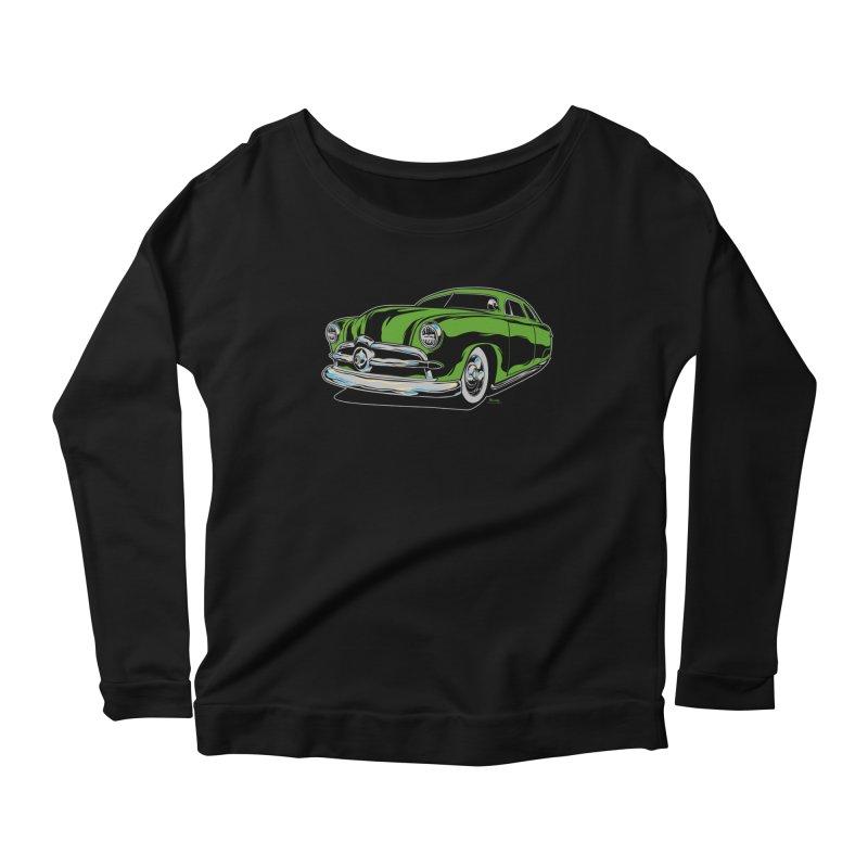 1950 Shoebox Kustom Women's Scoop Neck Longsleeve T-Shirt by EngineHouse13's Artist Shop