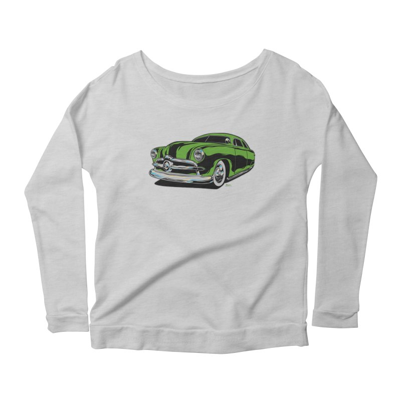 1950 Shoebox Kustom Women's Scoop Neck Longsleeve T-Shirt by EngineHouse13's Artist Shop