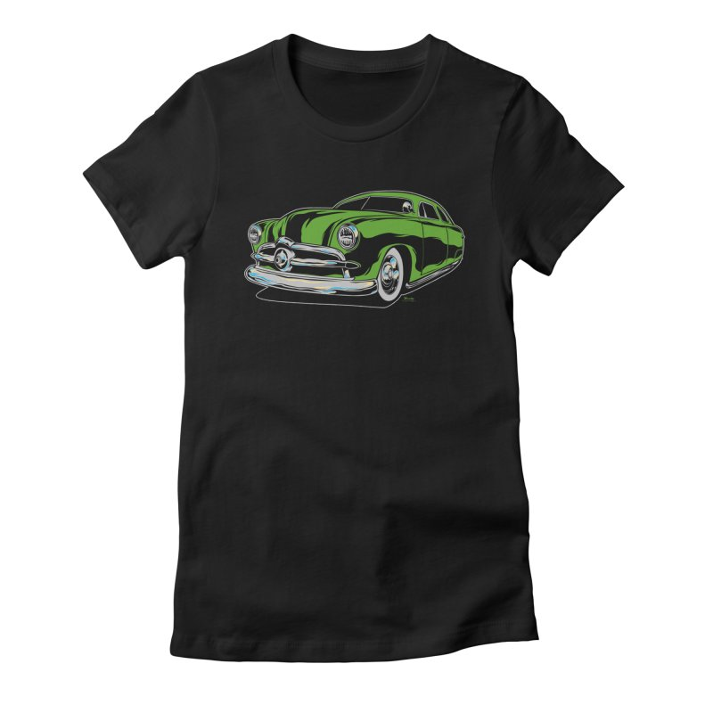 1950 Shoebox Kustom Women's Fitted T-Shirt by EngineHouse13's Artist Shop