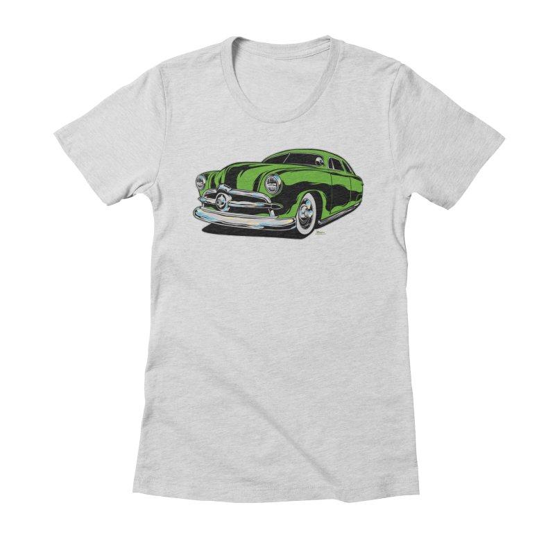 1950 Shoebox Kustom Women's Fitted T-Shirt by EngineHouse13's Artist Shop