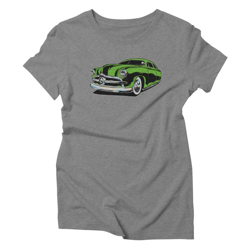 1950 Shoebox Kustom Women's Triblend T-Shirt by EngineHouse13's Artist Shop