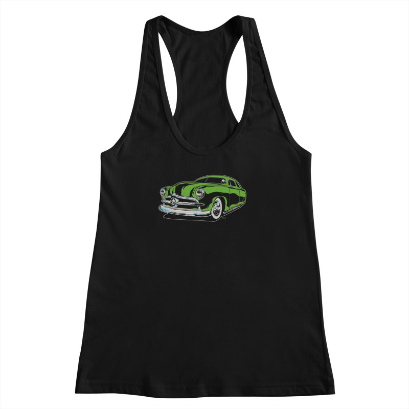 1950 Shoebox Kustom Women's Racerback Tank by EngineHouse13's Artist Shop