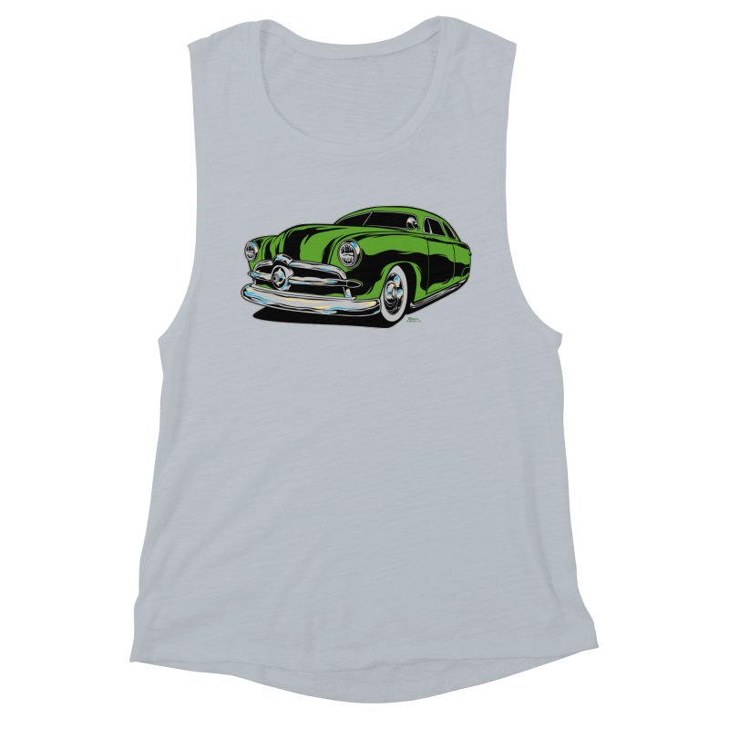 1950 Shoebox Kustom Women's Muscle Tank by EngineHouse13's Artist Shop