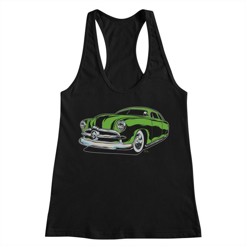 1950 Shoebox Kustom Women's Racerback Tank by EngineHouse13's Artist Shop