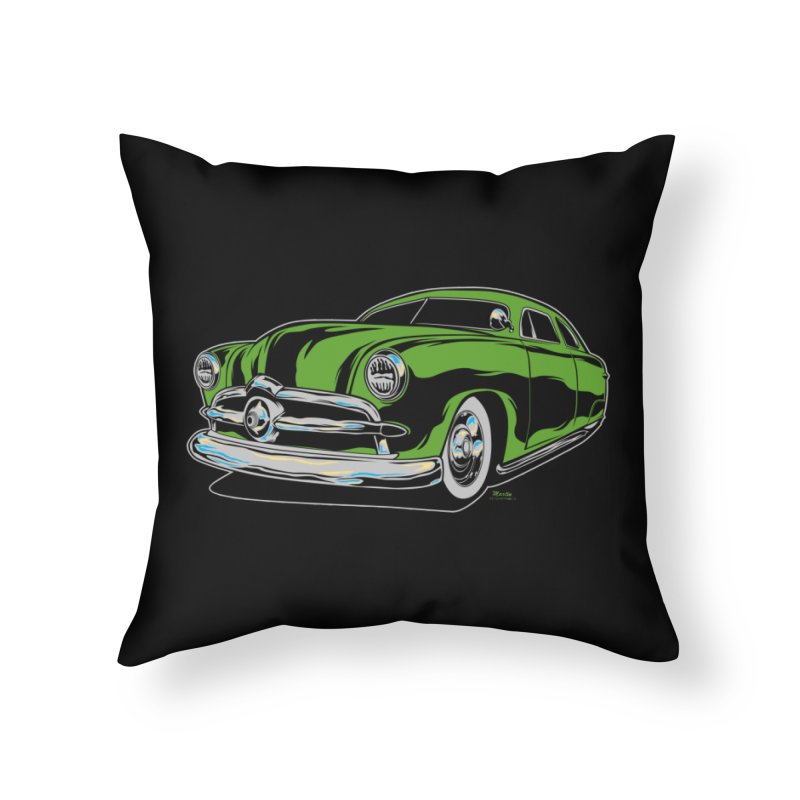 1950 Shoebox Kustom Home Throw Pillow by EngineHouse13's Artist Shop