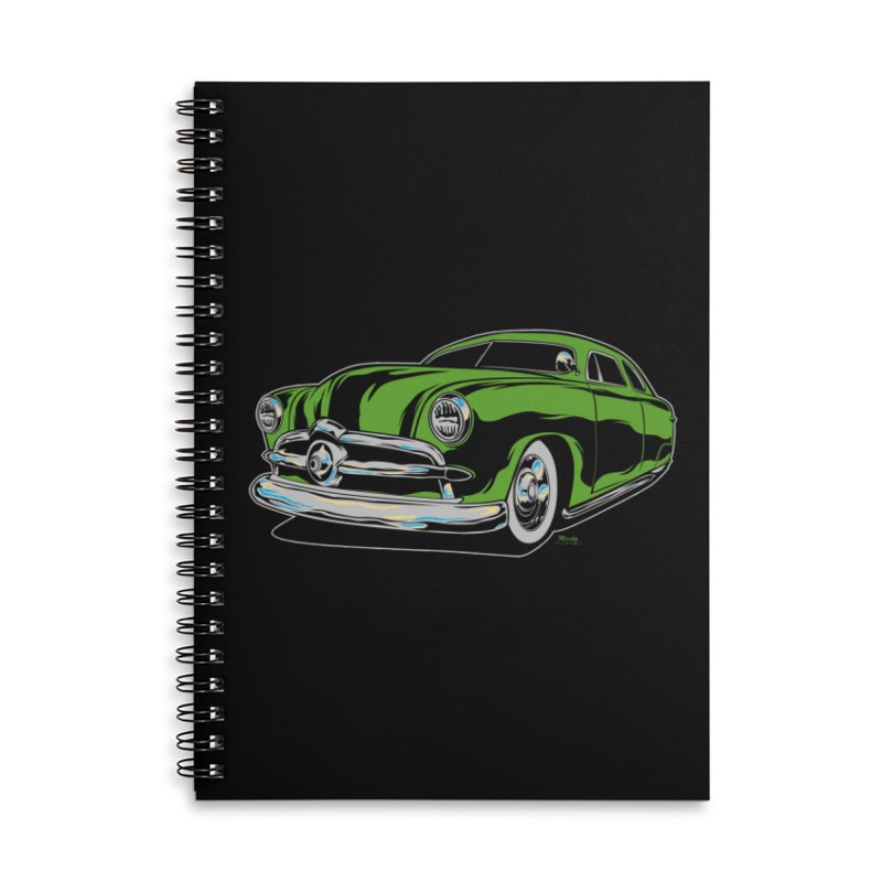 1950 Shoebox Kustom Accessories Lined Spiral Notebook by EngineHouse13's Artist Shop
