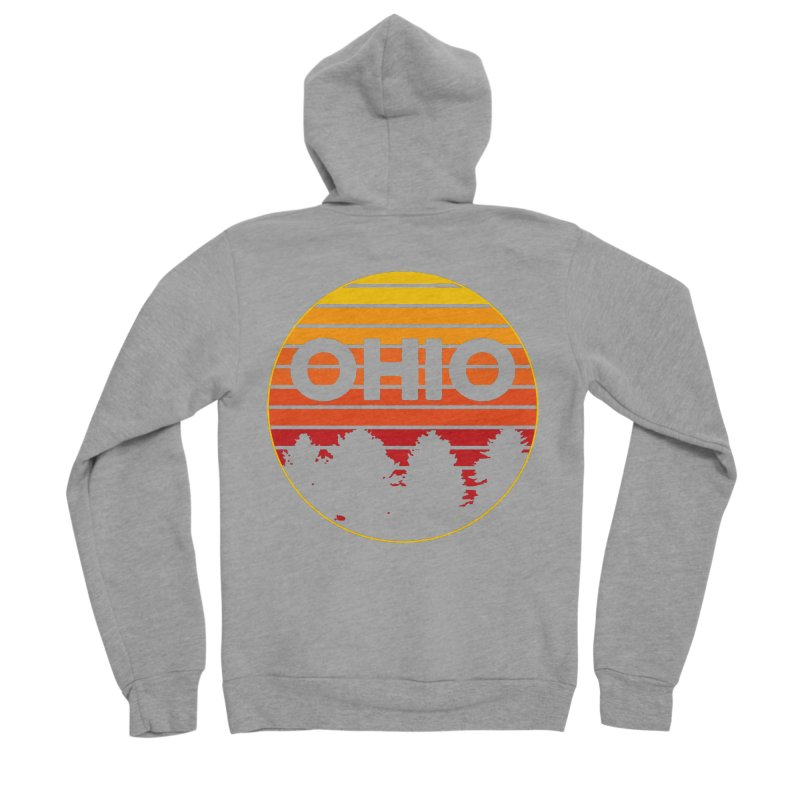 Ohio Sunsets Men's Sponge Fleece Zip-Up Hoody by EngineHouse13's Artist Shop