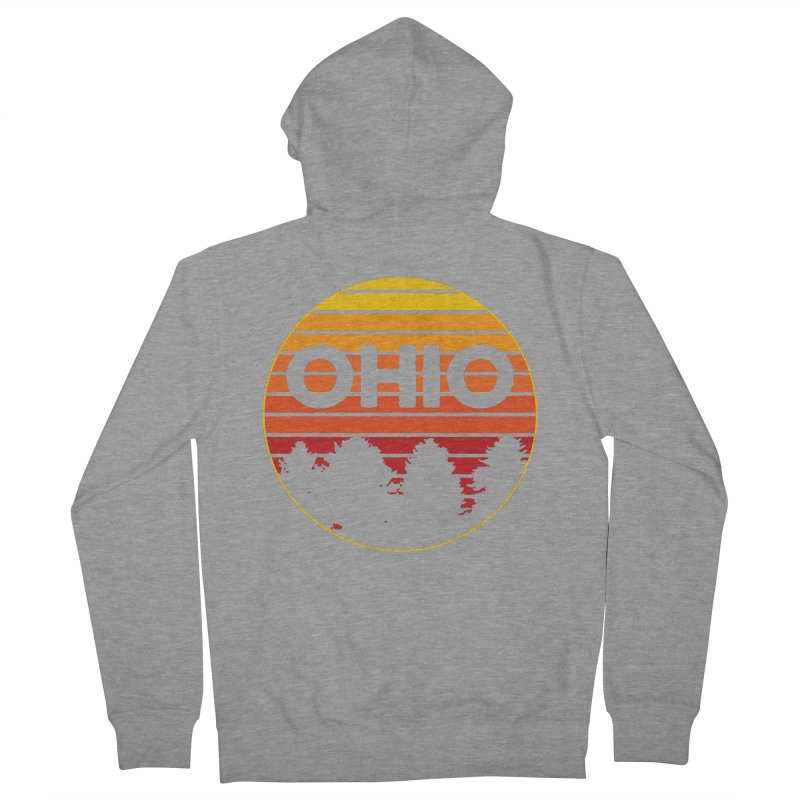 Ohio Sunsets Men's French Terry Zip-Up Hoody by EngineHouse13's Artist Shop