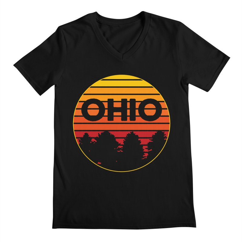 Ohio Sunsets Men's Regular V-Neck by EngineHouse13's Artist Shop
