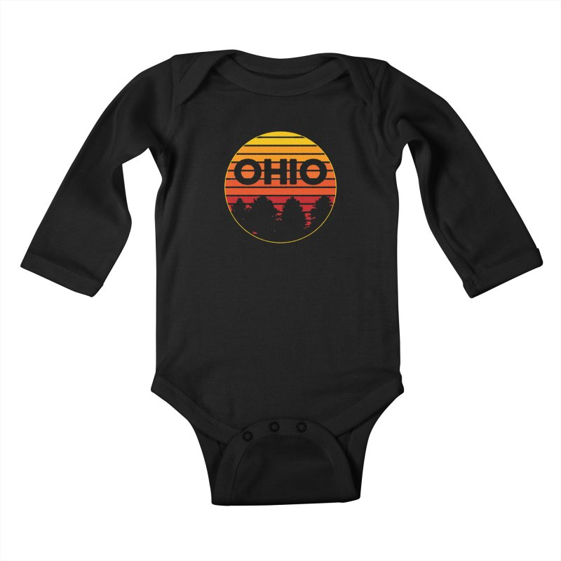 Ohio Sunsets Kids Baby Longsleeve Bodysuit by EngineHouse13's Artist Shop