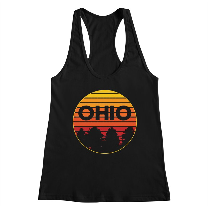 Ohio Sunsets Women's Racerback Tank by EngineHouse13's Artist Shop